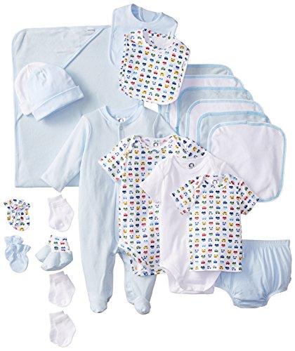 Gerber Baby-boys Newborn Deluxe Layette Set, Blue/White, 0-6 Months