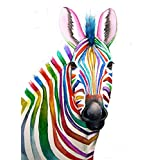 Tallenge Art For Kids - Rainbow Zebra - A3 Size Rolled Poster For Kids Room Decor