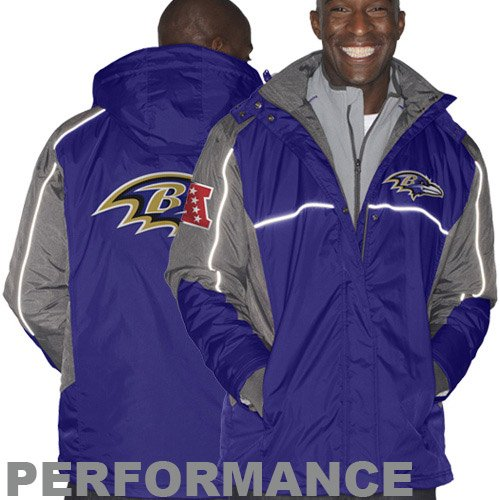NFL Baltimore Ravens Men's Frozen Tundra Systems Jacket, Purple, XX-Large at Amazon.com
