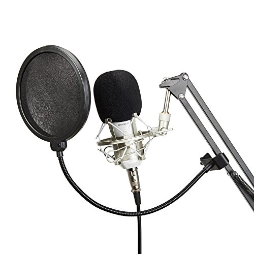 CO-Z-Pro-BM800-White-Condenser-Microphone-Package-Studio-Sound-Recording-Mic-with-Arm-Stand-Wind-Screen-Pop-Filter-Mask-Shield-Sets