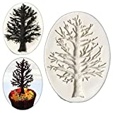 UNKE 3D Christmas Tree Branch Silicone Mold Fondant Cake Decorating Mould Baking Tool