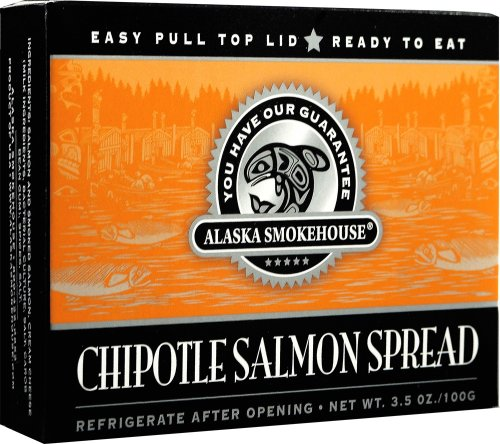 Alaska Smokehouse Chipotle Salmon Spread Totem Design, 3.5 Ounce Boxes (Pack of 6)