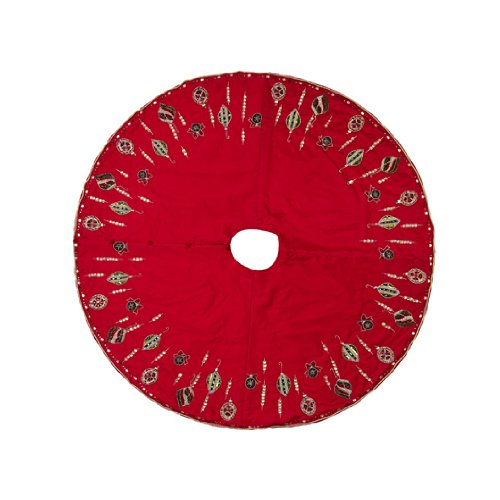 Ornament Tree Skirt Red/Green/Gold