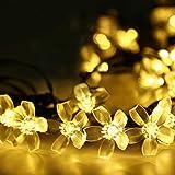 Beleuchtung - LE LED Solar Lichterkette Solarlichterkette, 7 Meter, Wasserdicht, 50 LEDs, 1,2V, Warmwei�, tragbar, mit Lichtsensor, Au�enlichterkette, Weihnachtsbeleuchtung, Beleuchtung f�r Hochzeit, Party