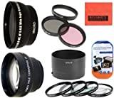Big Mike'S Deluxe Lens Kit For Nikon Coolpix P510 Digital Camera - Includes 72Mm 3Pc Filter Kit + 4Pc (+1 +2 +4 +10) Close Up Filter Set + 72Mm 2X Telephoto Lens + 72Mm 0.45X Wide Angle Lens With Macro Filter Adapter + More!!