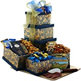 Art of Appreciation Gift Baskets Crowd Pleaser Meat, Cheese and Snacks Gift Tower
