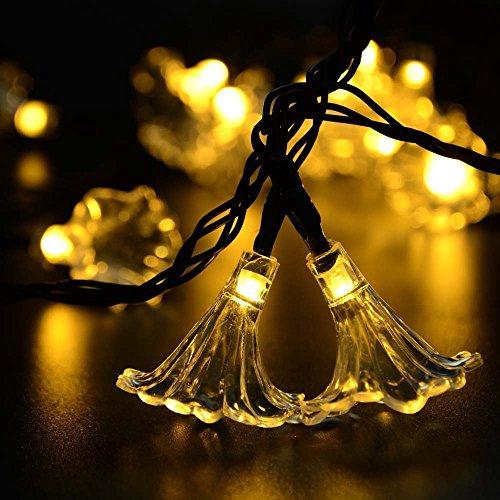 Energia solare 30ledwaterproof stringa, fata natale/gardon/festa/matrimoni/nuovo per l'anno decorazione con bianco caldo
