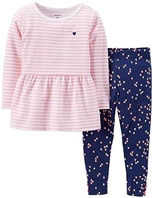 Carter's Baby Girls 2-Piece Peplum Top & Floral Pant Set