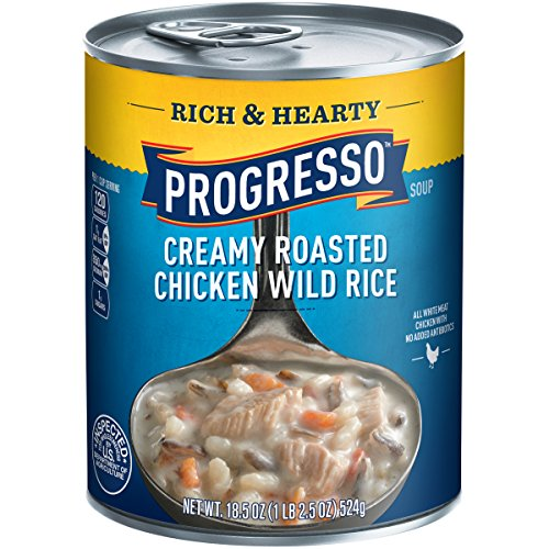 Progresso Rich & Hearty Soup, Creamy Chicken Wild Rice, 18.5 oz, 12 Pack (Chicken Wild Rice Soup compare prices)