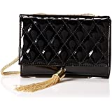 BIG BUDDHA Lila Patent Quilted Cross Body