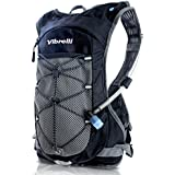 LAUNCH DEAL Vibrelli Hydration Pack 2L Hydration Bladder - PATENTED Anti-Microbial Technology High Flow Bite Valve...