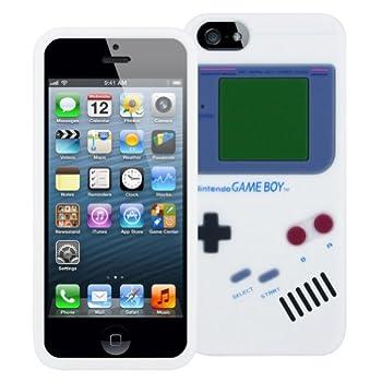 minisuit 【】Apple iPhone 5 シリコン素材 ケース 【カバー】 ゲームボーイデザイン 全5色 ホワイト