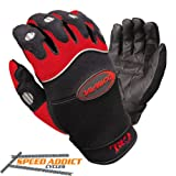 Olympia 710 Gel Reflector Motorcycle Sport Gloves (Black/Red, X-Large)