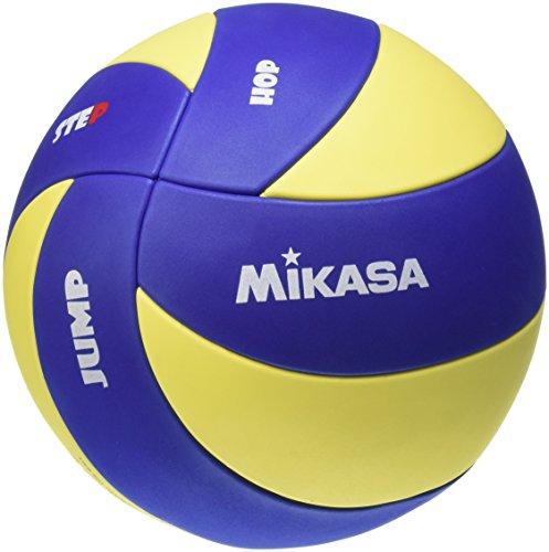 Mikasa Kinder - MVA 123 SL, Pallone da pallavolo, 65-67 cm, colore: Blu/Giallo