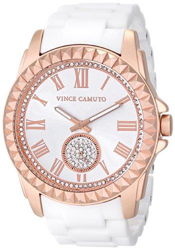 Vince Camuto VC/5190RGWT - Reloj para mujeres, correa de cerámica color blanco