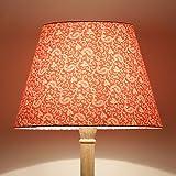 Craftter Traditional KERI DESIGN ORANGE Color FABRIC FLOOR Lamp Shade (CWFLS-18)