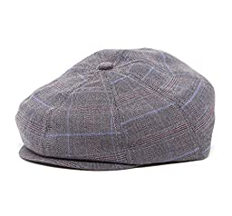 Special Occasion Driver Cap Baby & Toddler & Kids (SM 52 cm 2-3T, grey plaid newsboy)