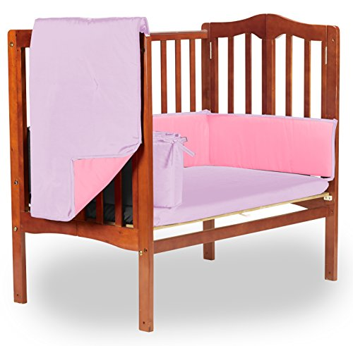 Baby Doll Reversible Port-a-Crib Bedding, Pink/Lavender