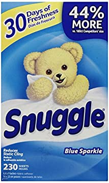 Snuggle Blue Sparkle Fabric Softener Sheets 230 Count