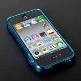 CAZE ThinEdge Clear frame case for iPhone 4/4S Bumper Blue 【世界最薄クリアバンパー】