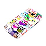 DeinPhone Samsung Galaxy Ace 3 Protective Case Small Colourful Owls Rings