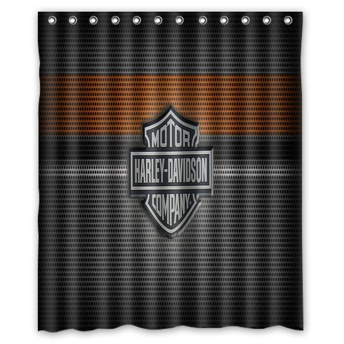 """POPcases's Flawless Creative gorgeous retro Harley Davidson Shower Curtain Shower Included 100% WaterProof Polyester Fabric 60"""" x 72"""" Inches"""