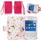 51QayMfOy6L. SL160  IZENGATE Elegant Floral Skin Premium PU Leather Wallet Flip Case Cover Folio Stand for Blackberry Q10 (Deep Rose Pink)
