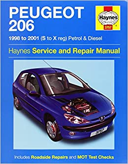 peugeot 206 service and repair manual haynes service and. Black Bedroom Furniture Sets. Home Design Ideas