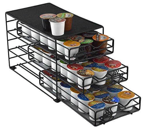 Southern Homewares SH-10046 3 Tier Keurig K-Cup Storage Drawer Coffee Holder for 54 K-Cups, Black (K Cup And Water Cooler compare prices)