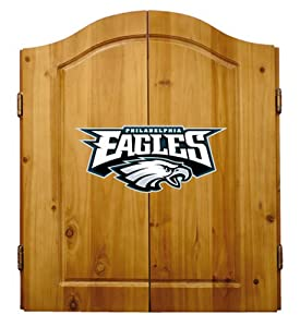 Buy NFL Philadelphia Eagles Solid Pine Cabinet And Bristle Dartboard Set by Imperial