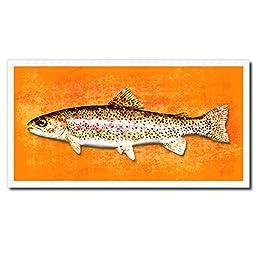 Rainbow Trout Fish Art 14141 Custom Picture Frame Wall Home Decor Nautical Beach Fisherman Shabby Chic Gift Ideas - Orange 20\