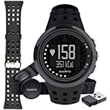Suunto M5 Women's Heart Rate Monitor (Male All Black & Accessories Bundle)