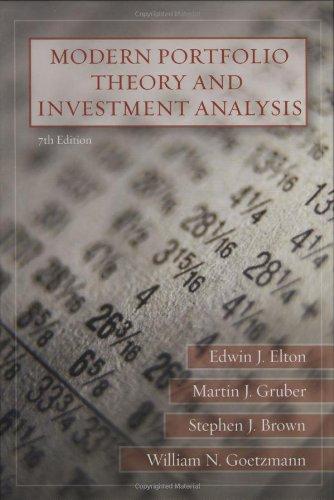modern portfolio theory and investment analysis 7th edition pdf