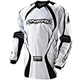 51Qb8bx9cIL. SL160  ONeal Racing Element Mens Motocross/Off Road/Dirt Bike Motorcycle Jersey   Color: White/Black, Size: Large