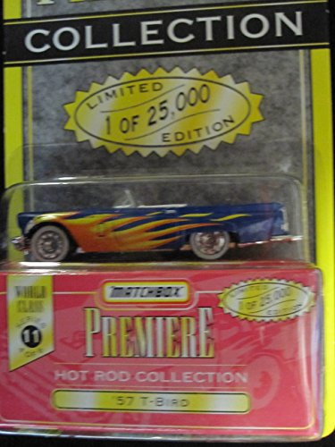 Matchbox Premiere 57 T-bird Series 11 (34314) Hot Rod Collection blue/flames - 1