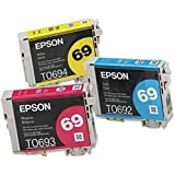 Genuine Epson 69 Color Ink Cartridges T069 T0692 T0693 T0694 1 Cyan/1 Magenta/1 Yellow