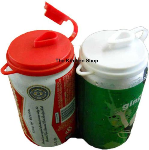 Soda Pop Beer Can Cover Top Beverage Lids Set of (2) New-Kitchen Tools & Gadgets (Soda Can Ashtray compare prices)