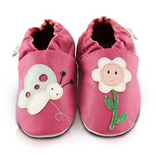 snuggle-feet-chaussons-bebe-en-cuir-doux-fleur-et-papillon-6-12-mois
