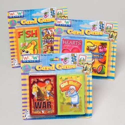 Card Games Multi Party Favor Novelties Goodies Kid Fun Gift Ideas 2 Pk - 1