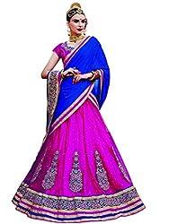 DesiButik's Wedding Wear Elegant Rani Net Lehenga