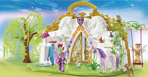 Playmobil-5208-Figurine-Parc-Enchant-Des-Fes-Et-Licorne-Transportable