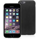 英国Snugg製 iPhone6 用 ウルトラスリム ケース - 生涯補償付き(Apple iPhone 6, ブラック レザー)