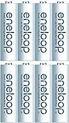 Panasonic eneloop 8×AA 2000mAh Ready to use for Multi use Ni-MH Rechargeable Batteries