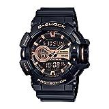 Casio GA400GB-1A4CR Men's G-Shock Garish Series Black Resin Band Black Dial Watch