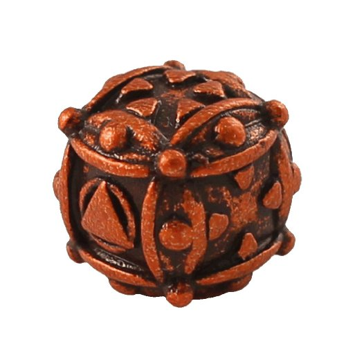 1 (One) Single IronDie: Solid Metal Italian Dice - Orange Ballistic (Die-Cast Designer Six-Sided Die / d6) - 1