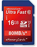 eMemoryCards 16GB/16GIG SD SDHC Ultra Fast Class 10 Memory Card For Nikon Coolpix L330 Camera