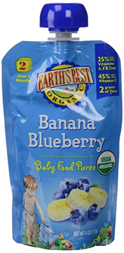 Earth'S Best Baby Food Pouch - Banana Blueberry 4Oz (12 Pack) front-192189