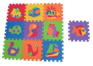 Edushape Edu Tiles Puzzles, 10 Piece Set