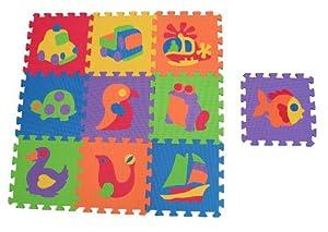 Edushape Edu Tiles, 10 Piece Set, Puzzles