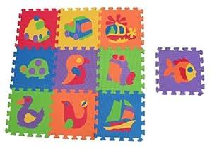 Edushape Edu Tiles, 10 Piece Set, Puzzles (Discontinued by Manufacturer)